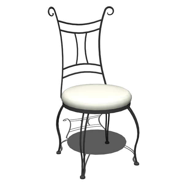 Impressive Wrought iron side chair and counter stool by Stone. 600 x 600 · 74 kB · jpeg