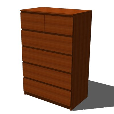 IKEA Malm chests of drawers, very simple, contempo....