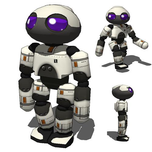 Humanoid Robot Tonkadong 3D Model FormFonts Models amp Textures