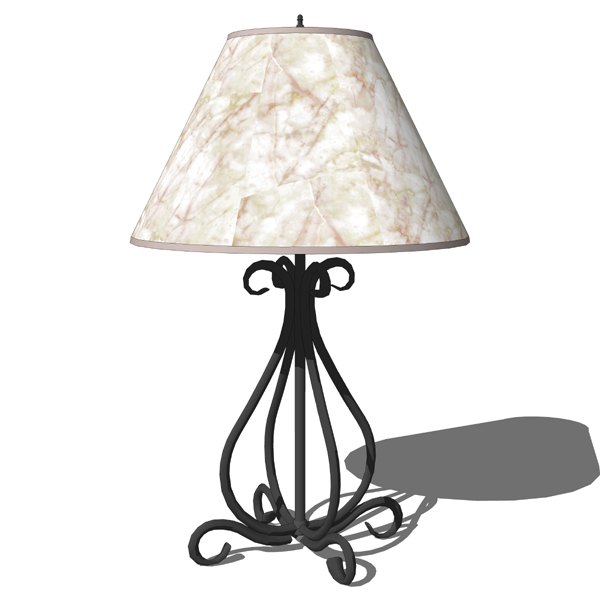 Waterbury table lamp by Stone County Ironworks. Pa....