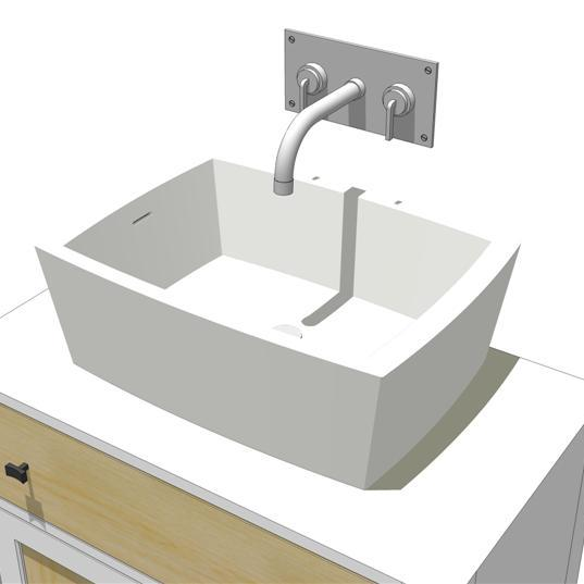 Wash-basins in Cristal Plant, wall-or top-mounted ....