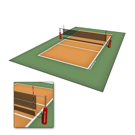 Volleyball court indoor and outdoor(sand court).