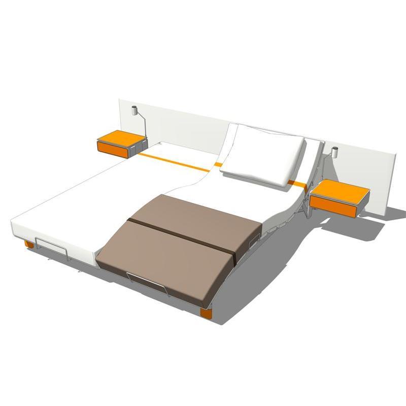 swissflex sf 500 ambient bed 3d model formfonts 3d models textures. Black Bedroom Furniture Sets. Home Design Ideas