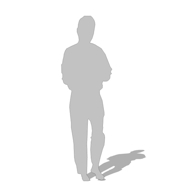 2d cut-out figure of a man - note: outline and fil....