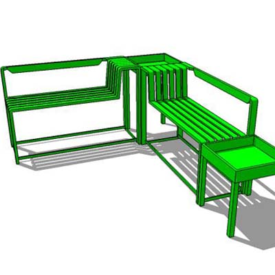 Garden chair 3d model formfonts 3d models textures for Outdoor furniture revit