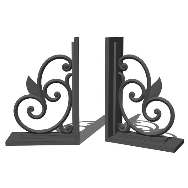 Iron scroll bookends..