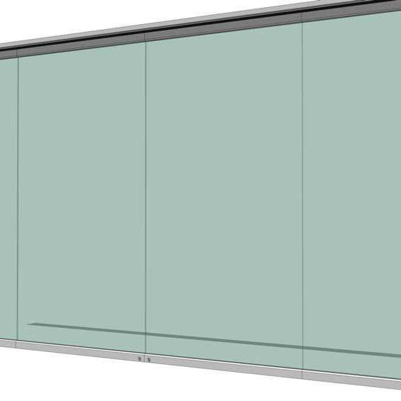 Glass Wall Partition System 3d Model Formfonts 3d Models