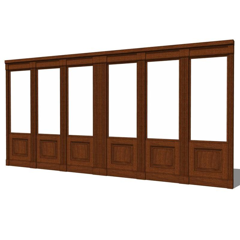 Wood Wall Partition System 3d Model Formfonts 3d Models