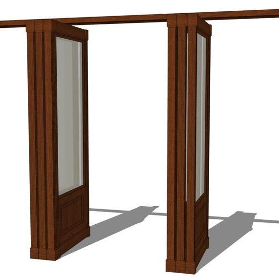 Wood Wall Partition System 3d Model Formfonts 3d Models