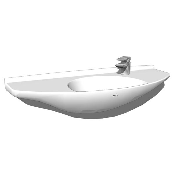 Toto lt650g wall mount lavatory 3d model formfonts 3d for Sketchup bathroom sink