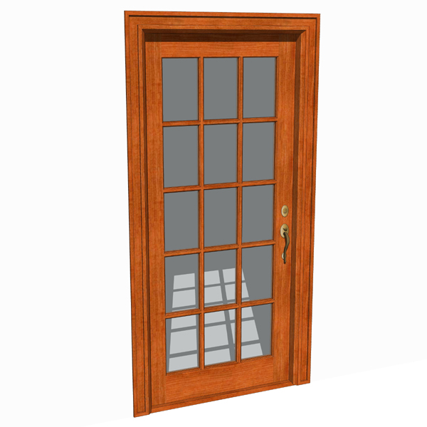 Front doors set 01 3d model formfonts 3d models textures for Front door models