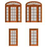 Front doors set 01. For each type of door there ar...