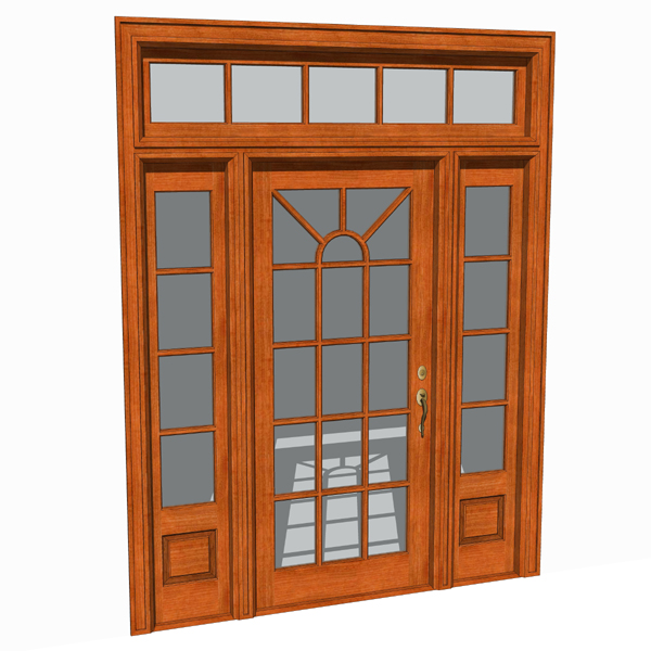 front doors set 03 3d model formfonts 3d models textures