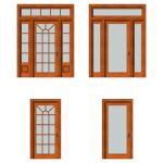 Front doors set 03. For each type of door there ar...