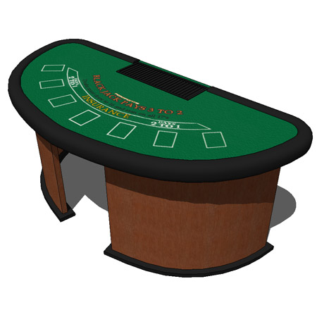 Casino table black jack casino table 3d