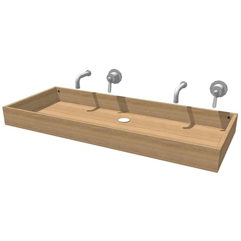 Rectangular washbasin in waterproof birch plywood ....