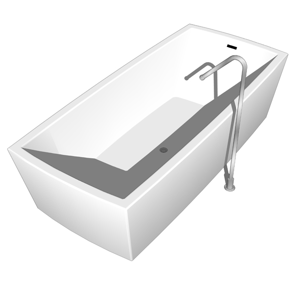 Boffi Gobi bathtub 3D Model - FormFonts 3D Models & Textures