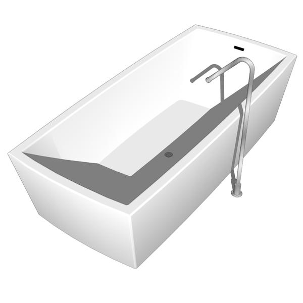 Boffi Gobi bathtub 3D Model - FormFonts 3D Models & Textures