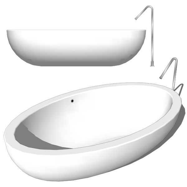Boffi Po-I Fiumi bathtubs in two different shapes ....