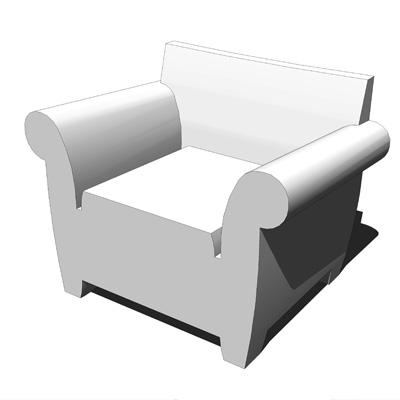 Bubble Club Sofas 3D Model
