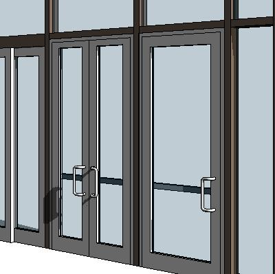 Curtain Wall Swing Panels 3d Model Formfonts 3d Models