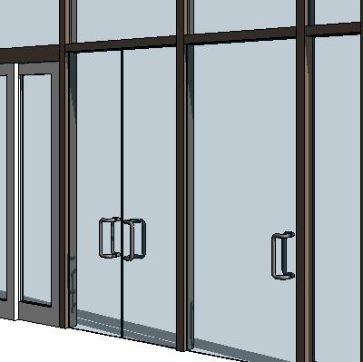 Curtain wall swing panels 3d model formfonts 3d models for Exterior glass wall panels