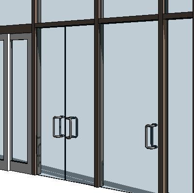Curtain Wall - Swing Panels 3D Model - FormFonts 3D Models & Textures