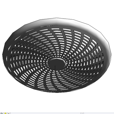 Gentil Bathroom Exhaust Fan 3D Model. Revit Modeled   Ceiling Based Decorative  Exhaust F.