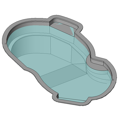 Inground Swimming Pool 3d Model Formfonts 3d Models Textures