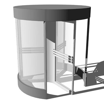 Designer revolving door with 3 doors diameter of .  sc 1 st  FormFonts & Revolving Door D240 3D Model - FormFonts 3D Models \u0026 Textures