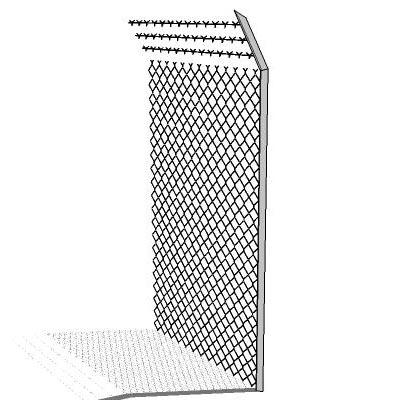 chainlink fence 3D Model - FormFonts 3D Models & Textures