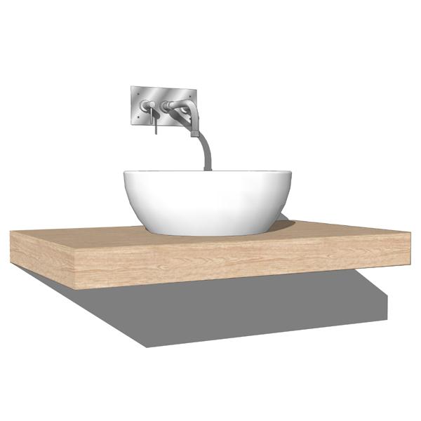Boffi i fiumi washbasins collection 3d model formfonts for Sketchup bathroom sink