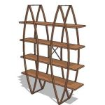 Shelves in natural beech or cherry wood colour W15...