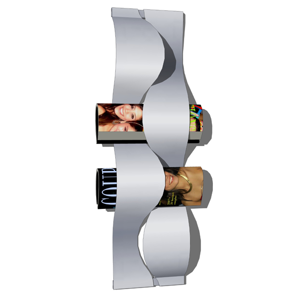 A functional and stylish wall mounted magazine rac....