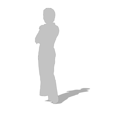 2d cut-out figure of a woman - note: outline and f....