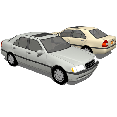 Mercedes benz c class 3d model formfonts 3d models for Mercedes benz compact car