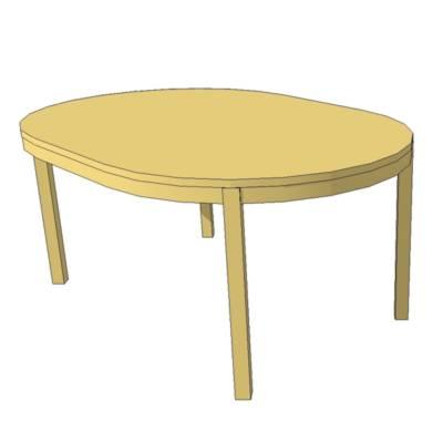 Bjursta table 3d model formfonts 3d models textures for Bjursta table