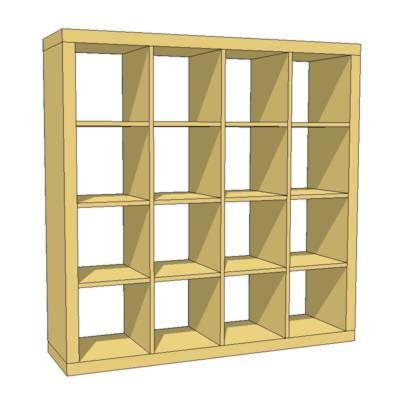 Expedit Bookcase 3d Model Formfonts 3d Models Textures
