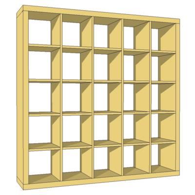 expedit bookcase 3d model formfonts 3d models textures. Black Bedroom Furniture Sets. Home Design Ideas