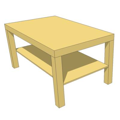 Lack Coffee Table 3d Model Formfonts 3d Models Textures