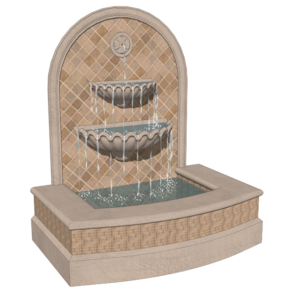 Spanish style fountains 3D Model FormFonts 3D Models