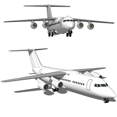 The BAe 146 is a medium-sized commercial aircraft ....