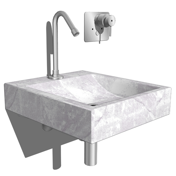 Boffi XL washbasin. Second configuration includes ....