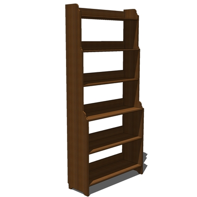 Ikea leksvik bookcase 3d model formfonts 3d models for Ikea wooden bookshelf