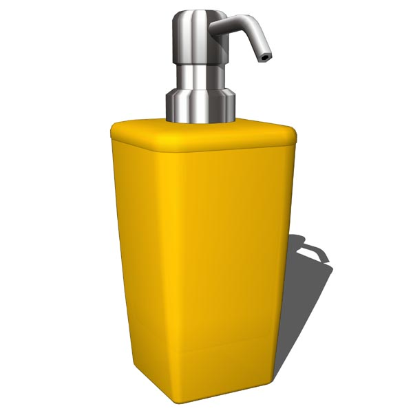 Bathroom yellow set which includes soap dispenser,....
