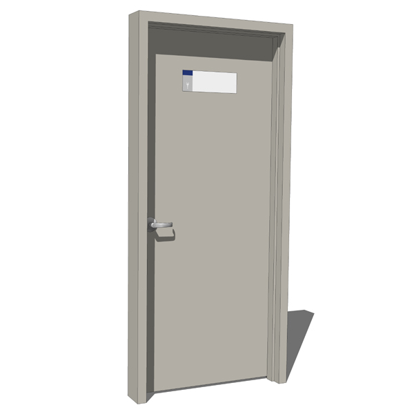 Metal Single Panel Doors 3d Model Formfonts 3d Models