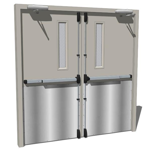 Metal Door Construction : Double doors metal door