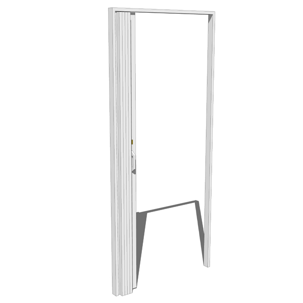 Folding Plastic Sliding Door Dubai: Hospital Folding Plastic Door 3D Model