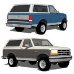 The Ford Bronco was a SUV produced from 1966 throu...