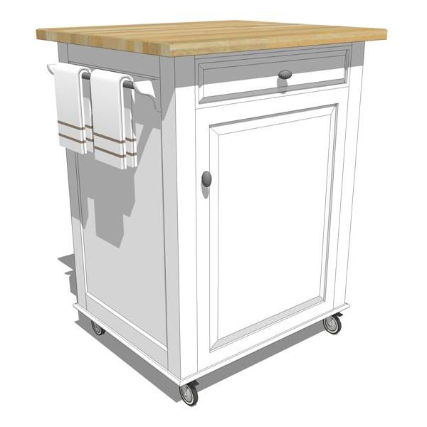 Mobile Kitchen Cabinets : Mobile kitchen island d model formfonts models